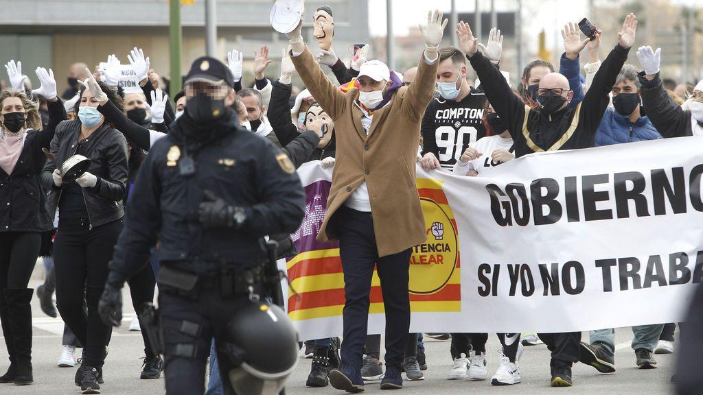 Movilización por la reapertura de la hostelería en Palma
