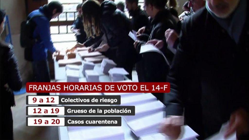 Miedo a la tercera ola entre los votantes y los 80 000 ciudadanos que conforman las mesas electorales del 14F