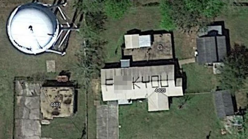 El mensaje captado por Google Maps