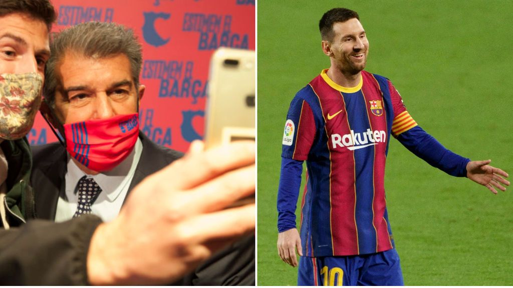 """El mensaje de Joan Laporta a Leo Messi tras la filtración de su contrato: """"No hagas caso"""""""