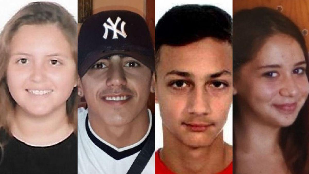 Buscan a Yesina, Hugo, Abel y Laura, cuatro menores desaparecidos en Tenerife