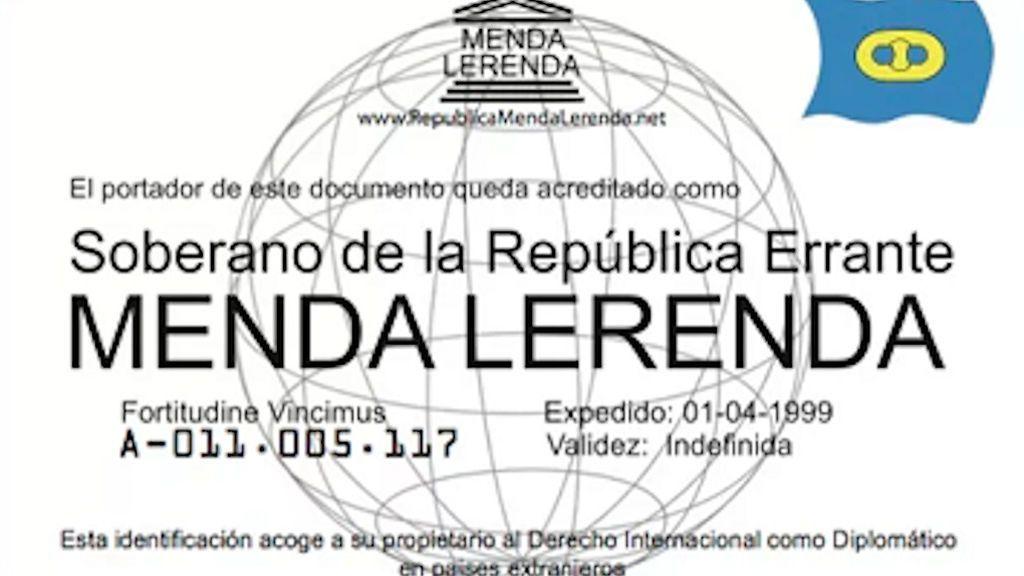 """Detenido en Galicia tras identificarse como diplomático de la """"República Errante de Menda Lerenda"""""""