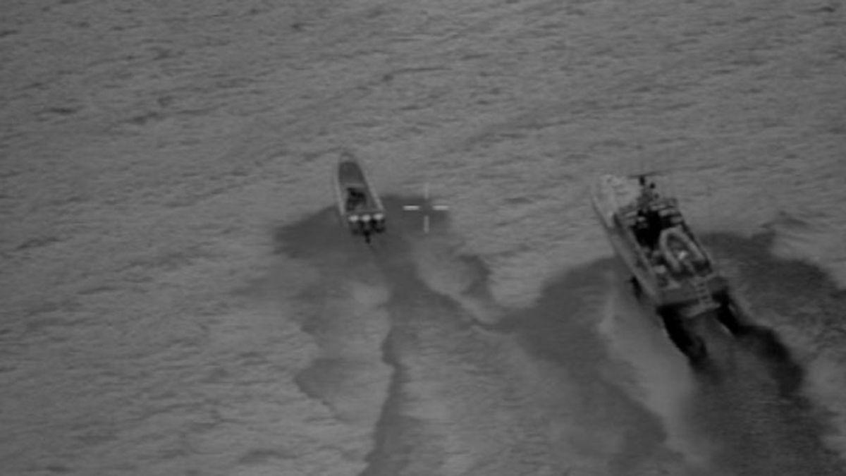 Aprehendidos 600 kilos de hachís tras una persecución en el Estrecho
