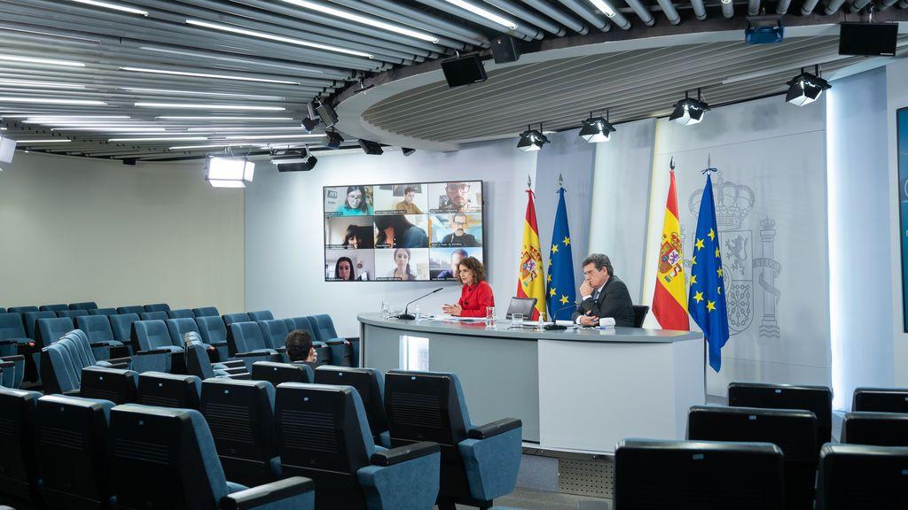 Rueda de prensa en Moncloa tras el Consejo de Ministros del dos de febrero