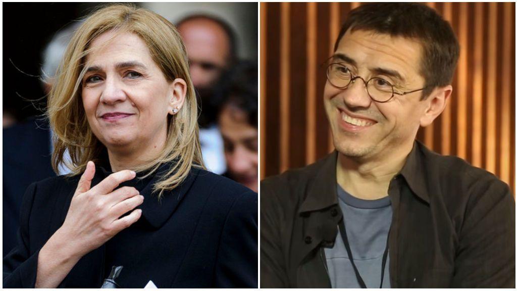 También, Cristina de Borbón y Juan Carlos Monedero estudiaron Ciencias Políticas en la misma clase.