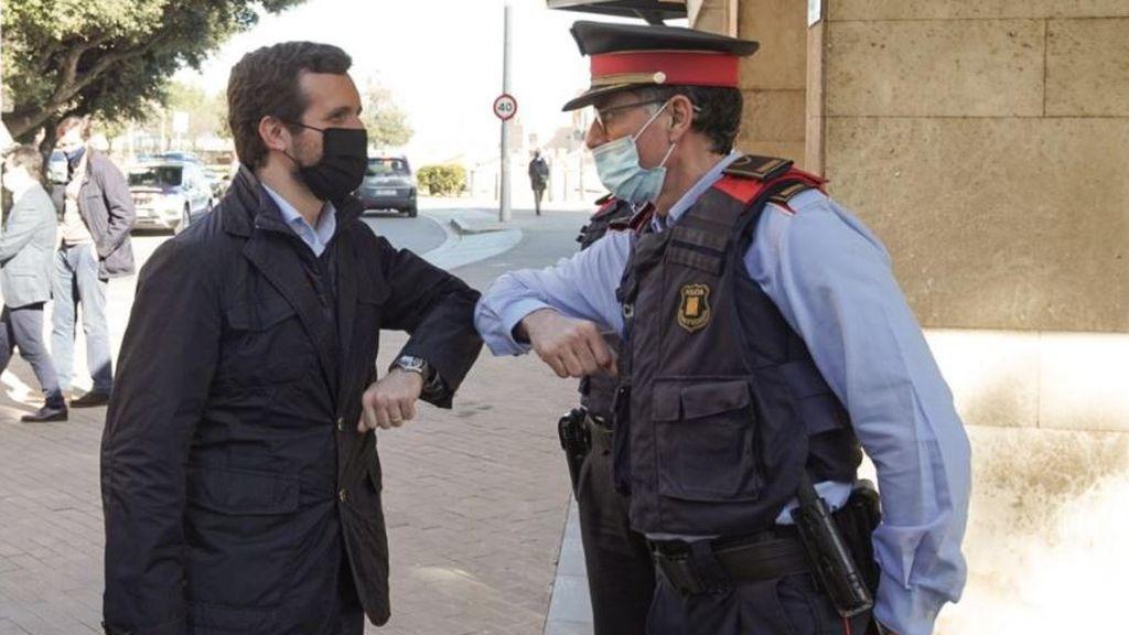 """Elecciones catalanas: Casado defiende pasar """"del día de la marmota"""" del 'procés' en el fortín 'indepe' de Girona"""
