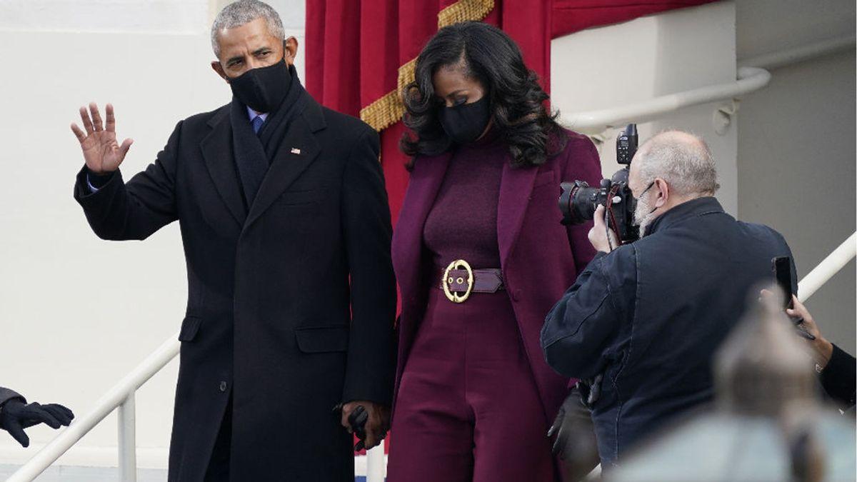 Michelle Obama aplaude la recreación de dos niños con su 'look' y el de su marido en la toma de posesión de Biden