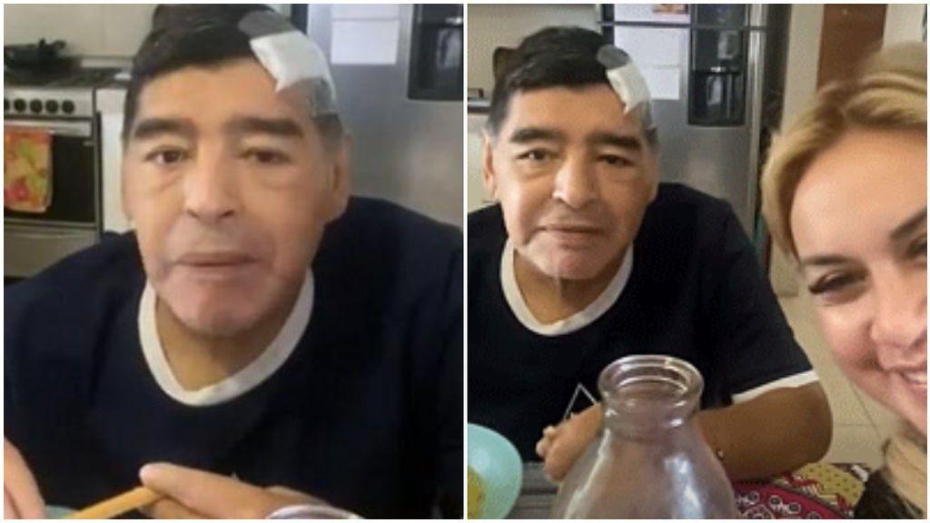 Maradona grabó un vídeo para Leopoldo Luque.