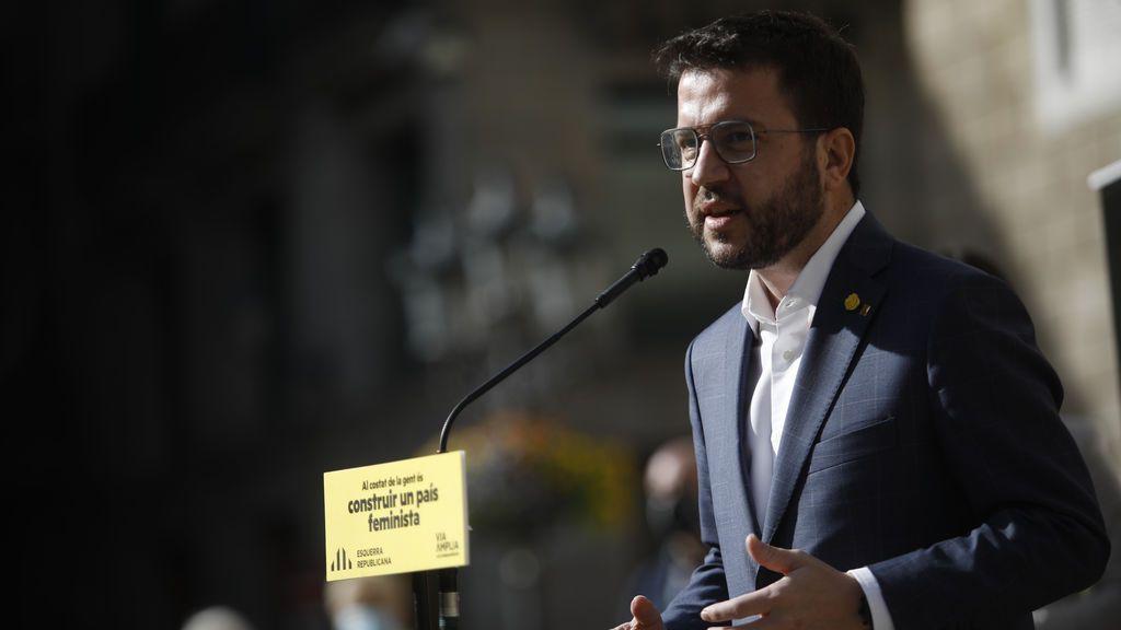 """Aragonès cita a Illa a un cara a cara: """"Estas elecciones van de él y el 155 o de mí y ERC"""""""