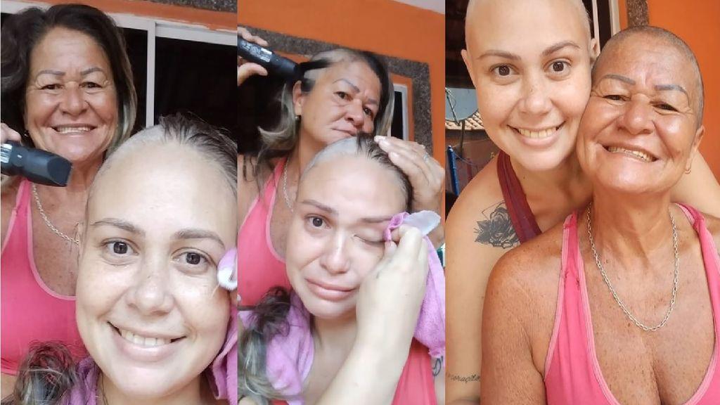 Una madre se rapa el pelo a la vez que su hija para apoyarla en su lucha contra el cáncer