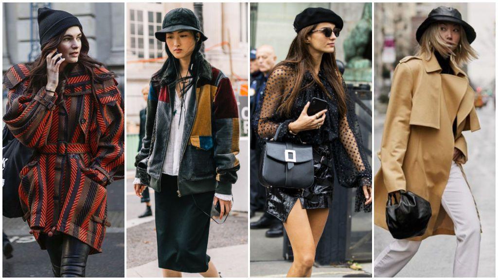 Cómo combinar este invierno el sombrero en looks street style: desde los beanies hasta los bucket hats.