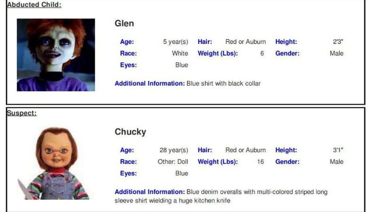 Texas se disculpa por emitir una alerta de desaparición del hijo de Chucky