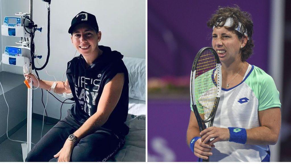 """Carla Suárez sueña con volver a las pistas de tenis: """"No quiero que la gente me recuerde despidiéndome en una camilla"""""""