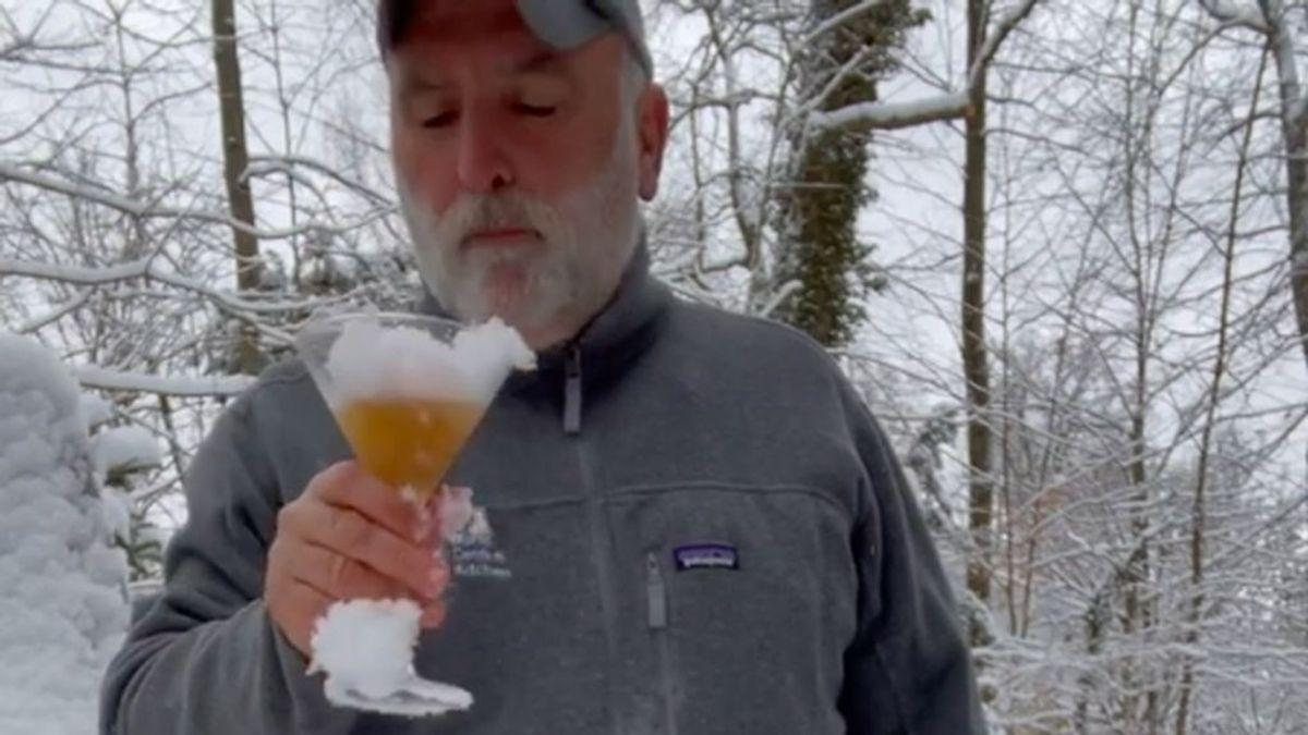 """José Andrés y sus recetas de dos cócteles con nieve: """"Está delicioso este vermut"""""""