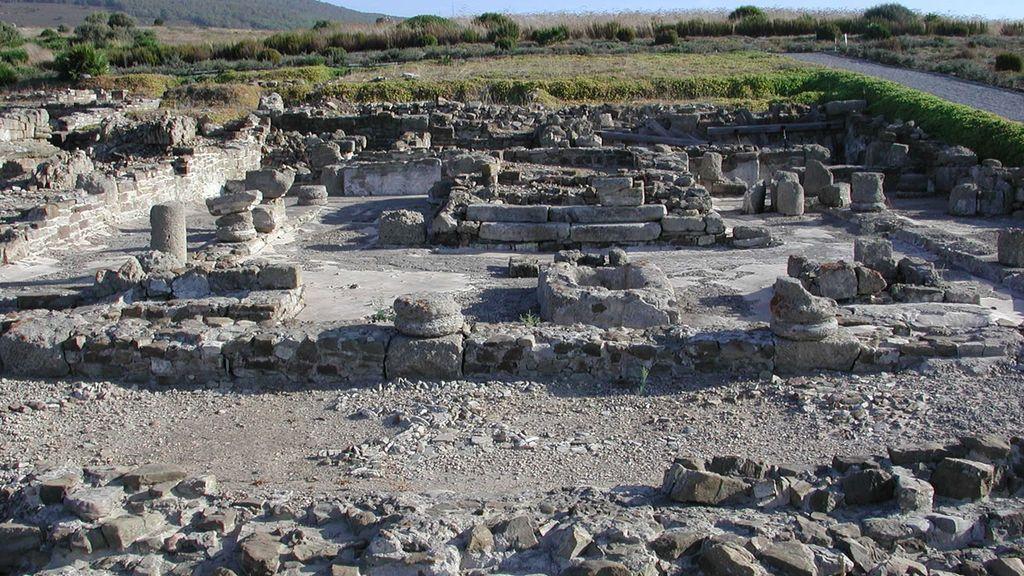 Los restos del templo de Isis en Baelo Claudia