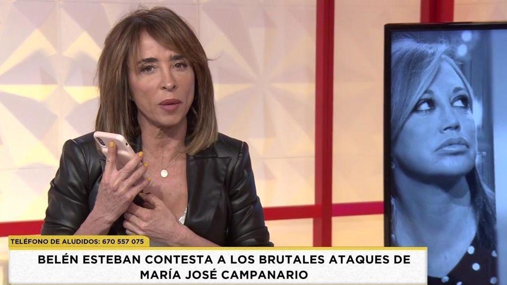Belén Esteban reacciona a la dura carta de la Campa