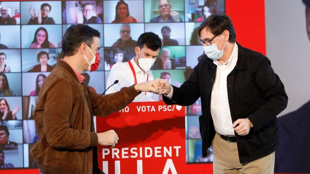 Sánchez reivindica a Illa como la opción de la izquierda y el catalanismo