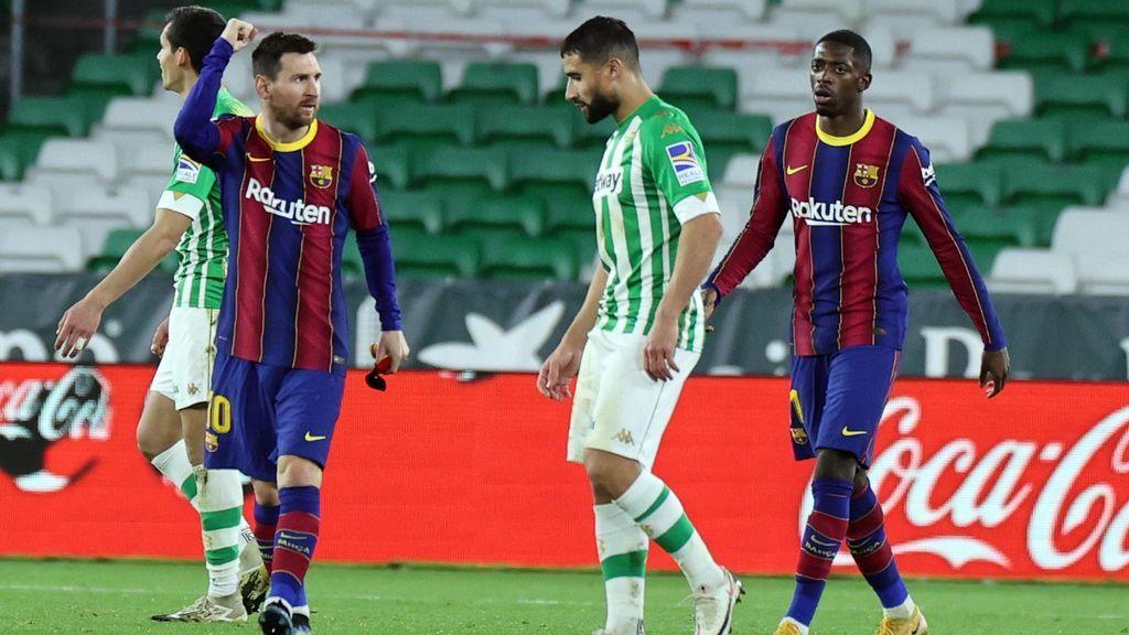 El Betis le rasca puntos al Barça (2-2): Messi salió al rescate y Víctor Ruiz remedió su gol en propia