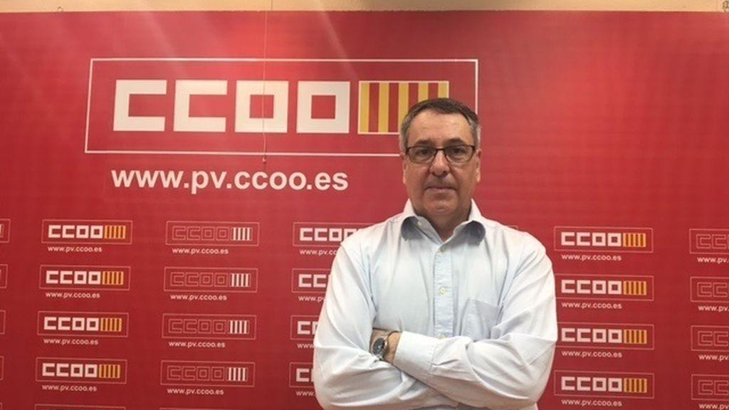 El secretario general de CCOO PV, Arturo León, en una imagen de archivo