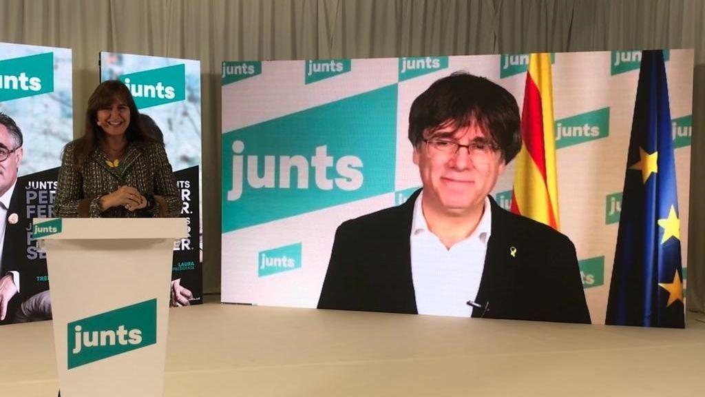 Borràs (Junts) se define como voto útil contra un tripartito y por la independencia