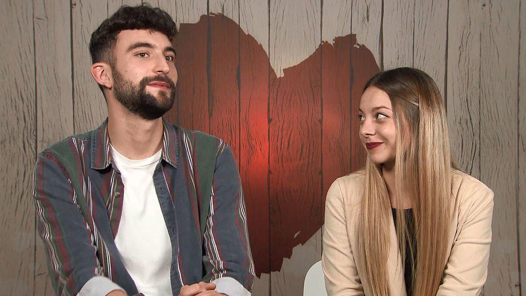 Yago y Laura en el programa 'First Dates'