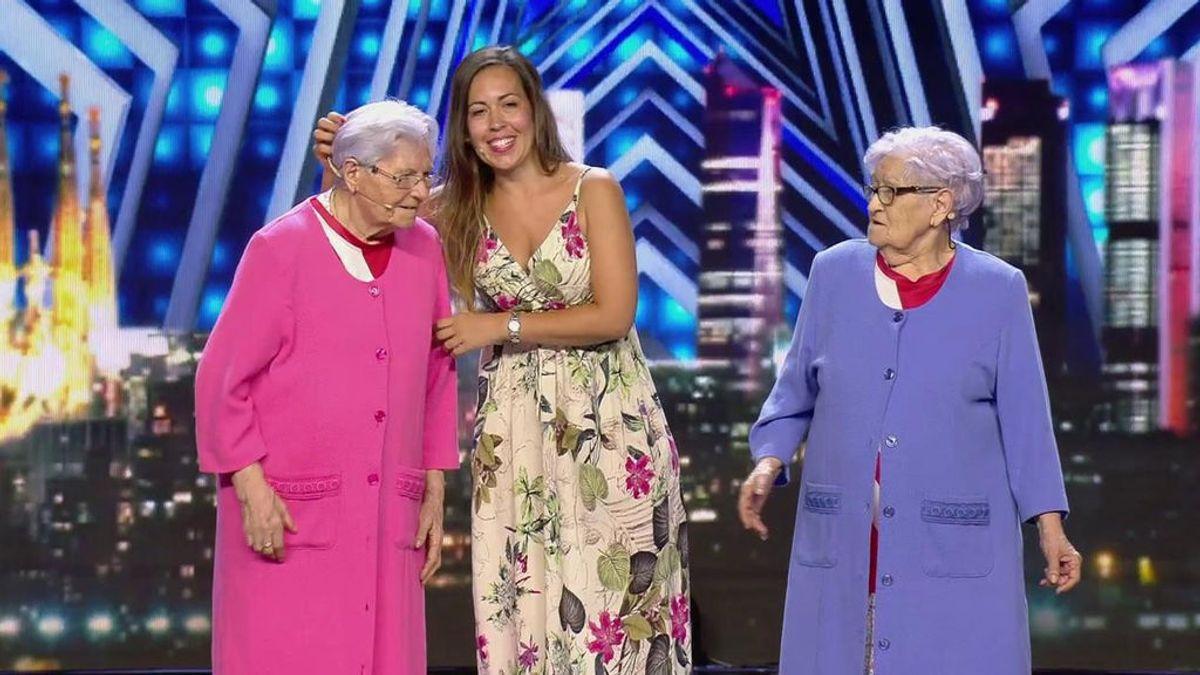 Paquita y Ana Aguilera, durante su participación en Got Talent