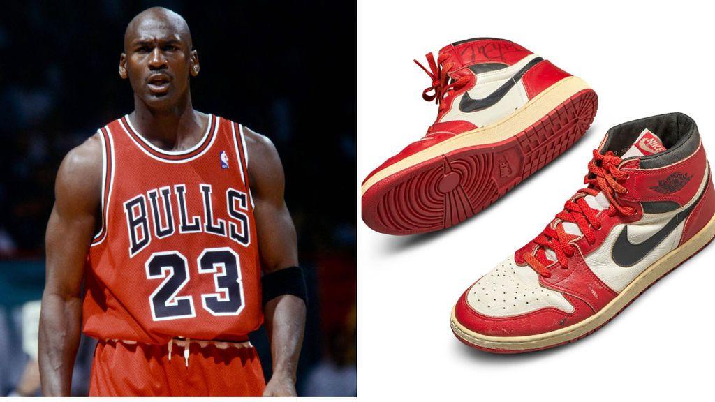 Subastan las primeras zapatillas de Michael Jordan por 1 millón de dólares