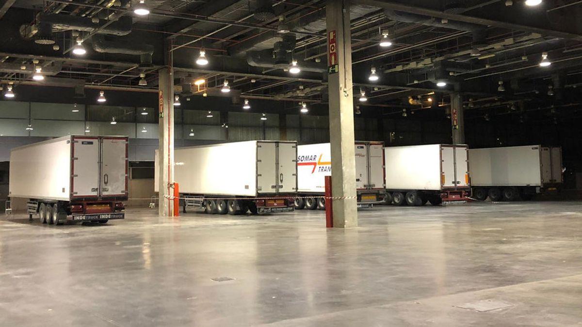 Llegan los primeros camiones cargados de residuos sanitarios a Feria Valencia