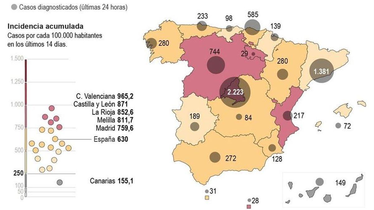 El mapa de vacunación en España: nuevo plan  con tres millones de infectados