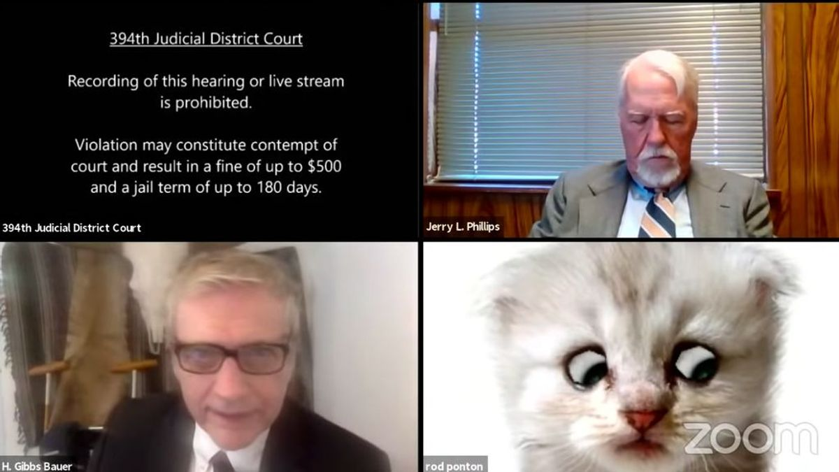 """La anécdota del abogado que no pudo quitar el filtro de su hijo en un juicio en directo: """"No soy un gato"""""""