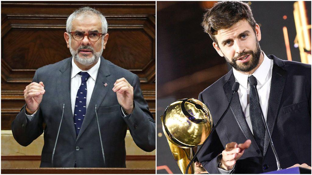 """Piqué sigue de cerca las elecciones catalanas y se enzarza con Carlos Carrizosa, uno de los candidatos: """"Me las guardo para tu regreso a la Selección"""""""