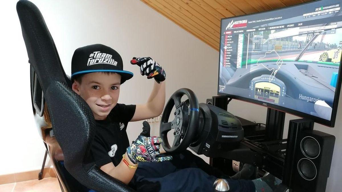 Un niño de 10 años hace historia con el videojuego Gran Turismo y llega a la final de la Copa de España