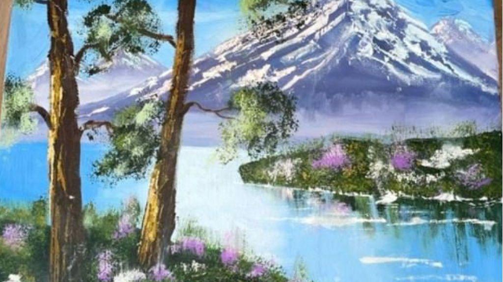 Lienzo pintado por su hija North