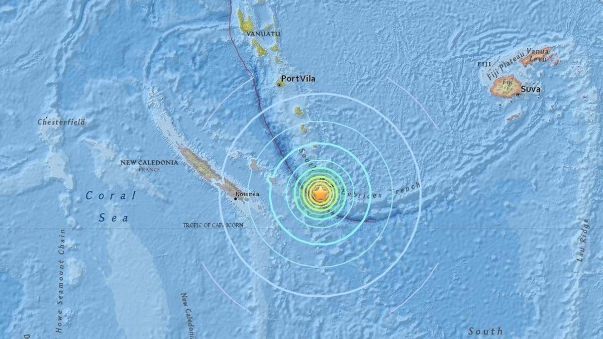 Alerta de tsunami en varias islas del Pacífico tras un terremoto de 7,7 frente a Nueva Caledonia