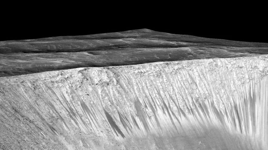 Descubren el origen de las misteriosas líneas negras en la superficie de Marte