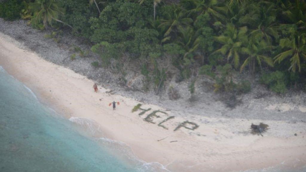 Rescate de película en una isla desierta de Bahamas: tres personas, 33 días alimentándose de cocos