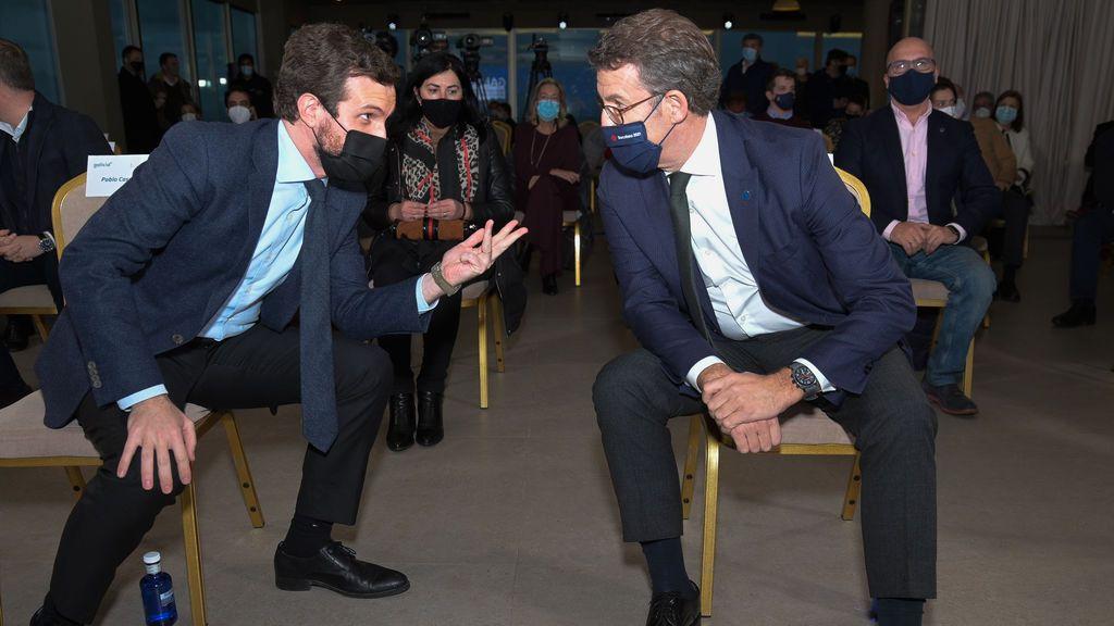 Feijóo respalda la actuación del Gobierno de Rajoy el 1-O tras las críticas de Casado