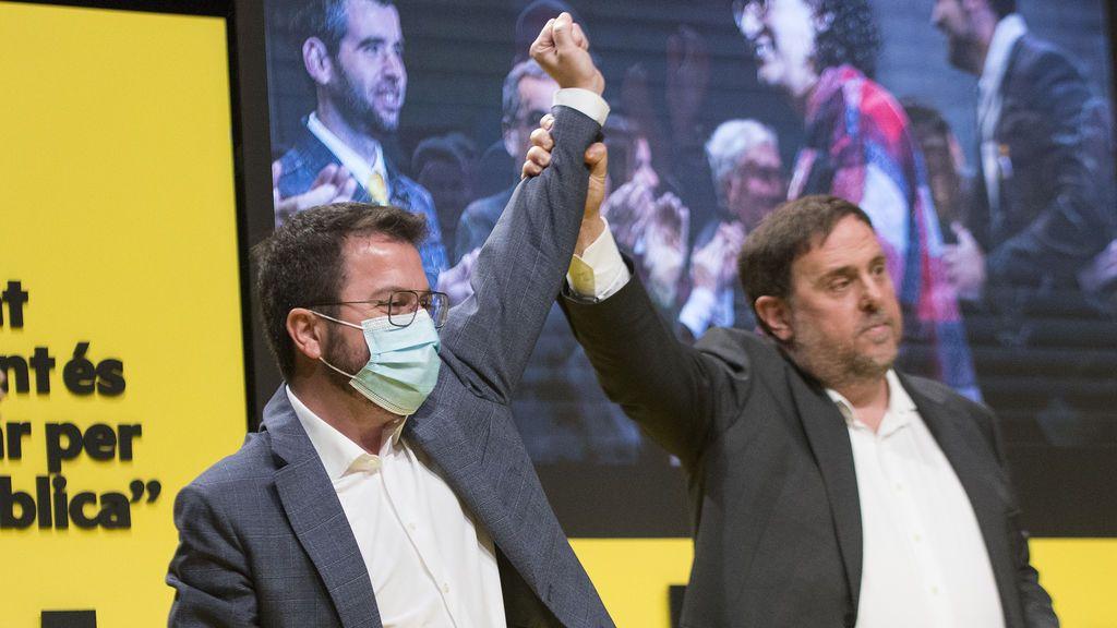 En directo: ERC pone punto y final a su campaña con Junqueras apoyando a Aragonés