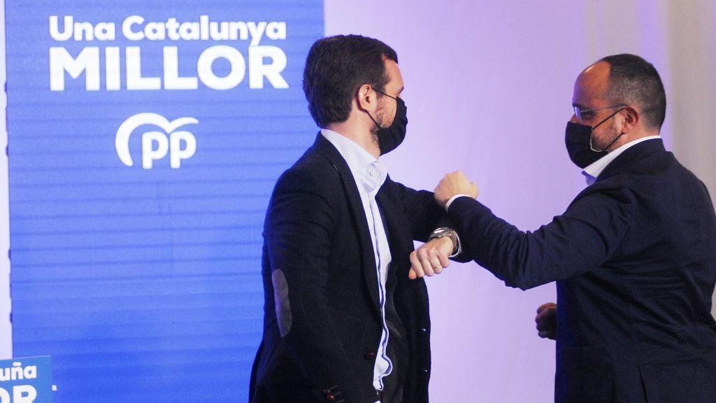 En directo: Pablo Casado cierra la campaña en Barcelona junto al candidato del PP,  Alejandro Fernández