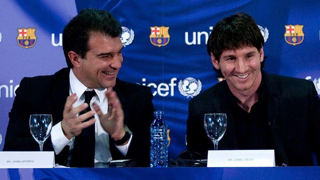 Se filtra el proyecto deportivo de Joan Laporta: los fichajes con los que quiere convencer a Messi para renovar