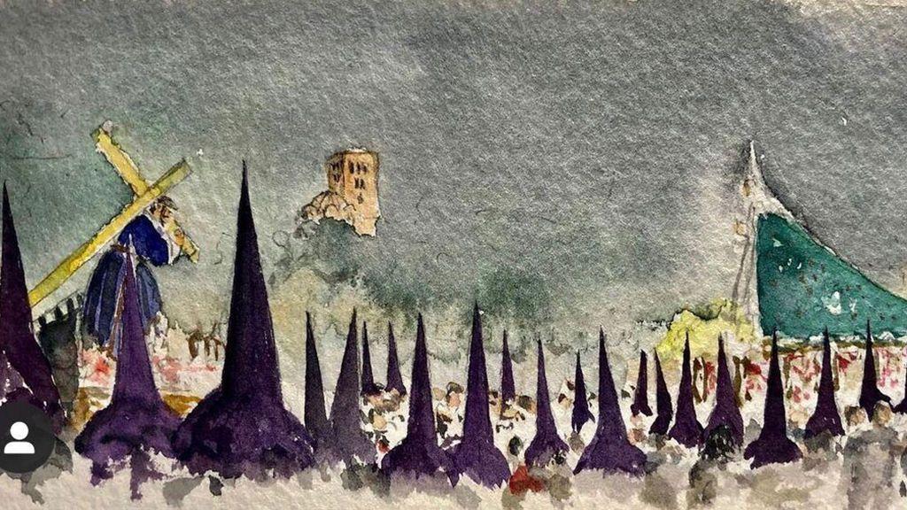 Acuarela Semana Santa de Zamora