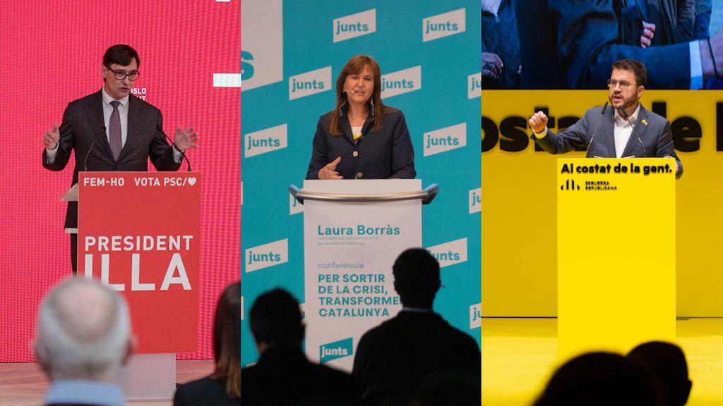 Cataluña echa el cierre a su campaña electoral bajo la incógnita de la abstención y su gobernabilidad en el aire