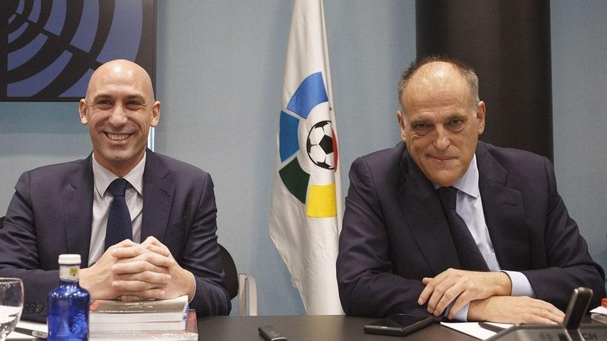 """Tebas le deja claro a Rubiales que no habrá cambios en La Liga: """"Pues va a ser que no"""""""
