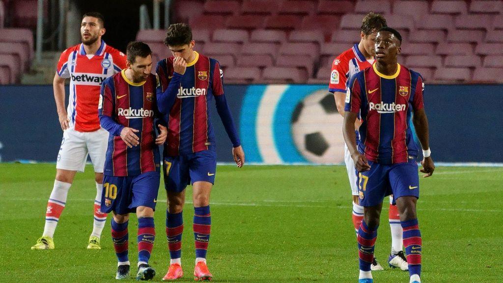Trincão y Messi llevan al Barça a la goleada contra el Alavés (5-1)