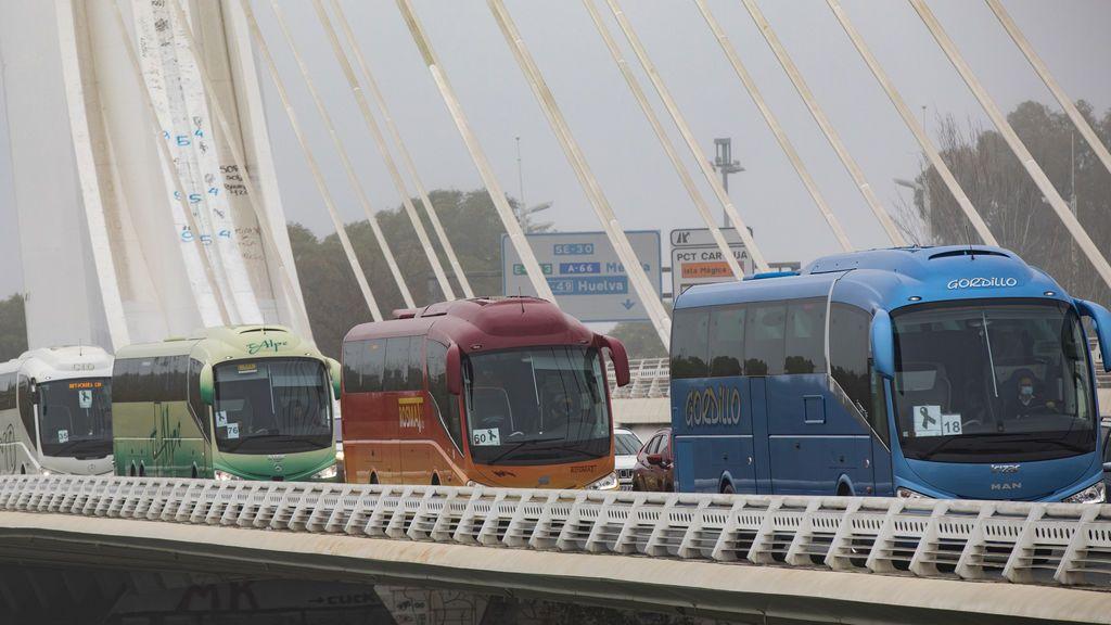 Los transportistas de Andalucía se ofrecen para el traslado de ciudadanos y viales para acelerar la vacunación masiva