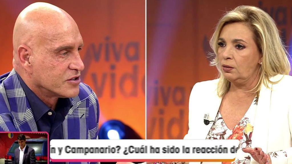 Carmen Borrego alucina cuando Matamoros le revela el motivo por el cual Alejandra Rubio está enfadada con ella