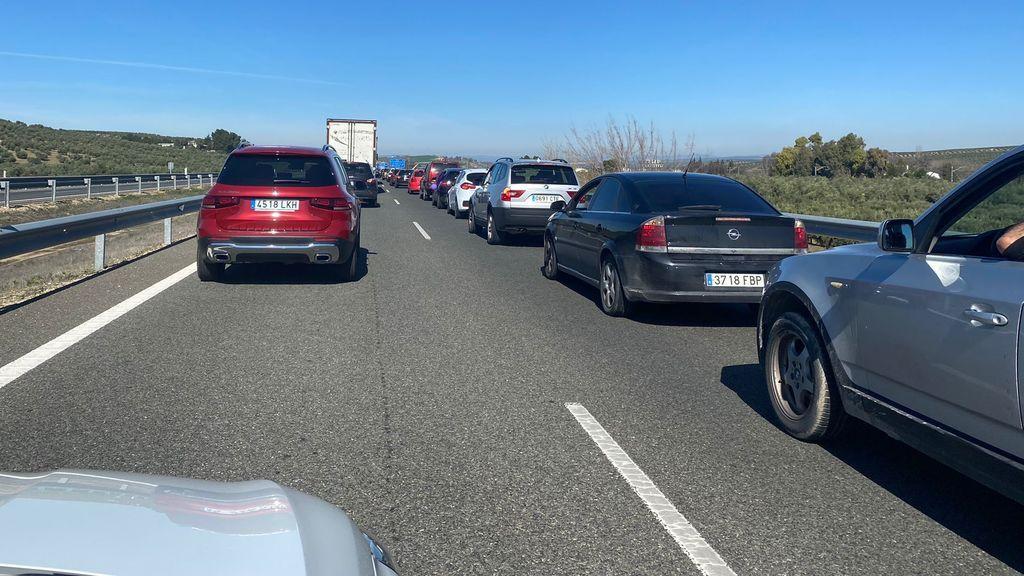 Caravana de protesta en Jaén