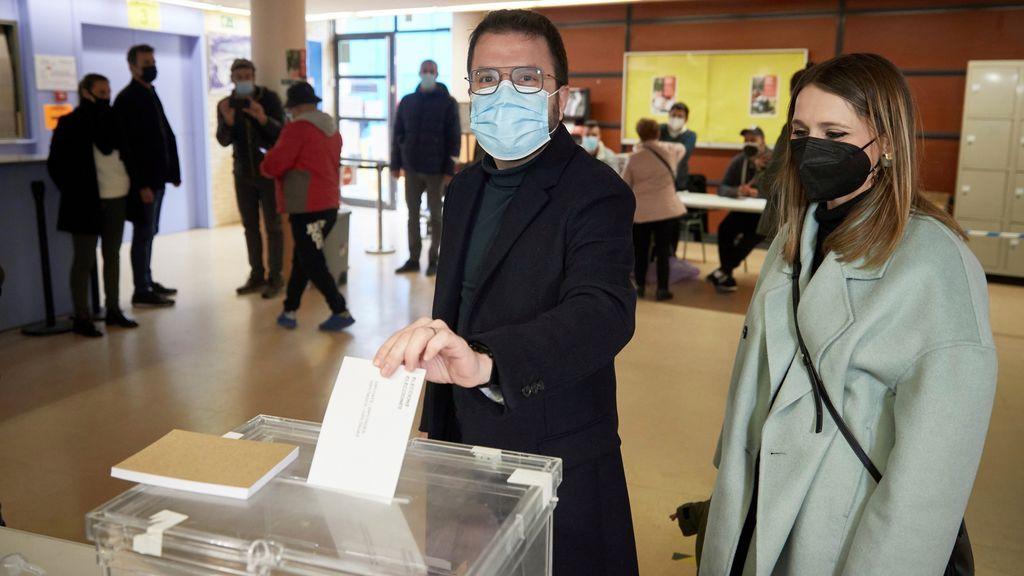 La votación de Pere Aragonés
