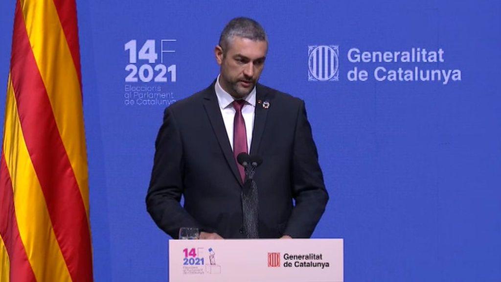 La Generalitat achaca la caída de la participación a la pandemia, las franjas horarias y el voto por correo