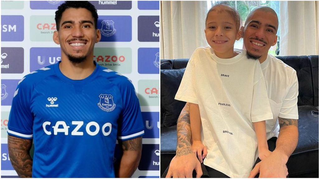 """Allan Marques, futbolista del Everton, se rapa para apoyar a su hijo que sufre alopecia: """"Gracias por ser el padre más increíble del mundo"""""""